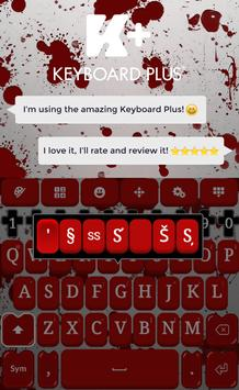 Blood Keyboard Theme apk screenshot
