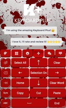 Blood Keyboard Theme screenshot 4