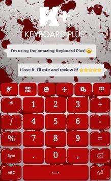 Blood Keyboard Theme screenshot 6
