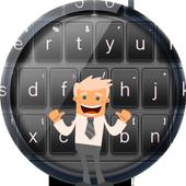 Black Elegant Keyboard Theme icon