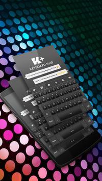 Black Elegant Keyboard Theme poster
