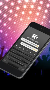 Black Elegant Keyboard Theme screenshot 2