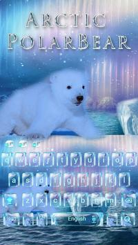 Polar bear Keyboard Theme poster