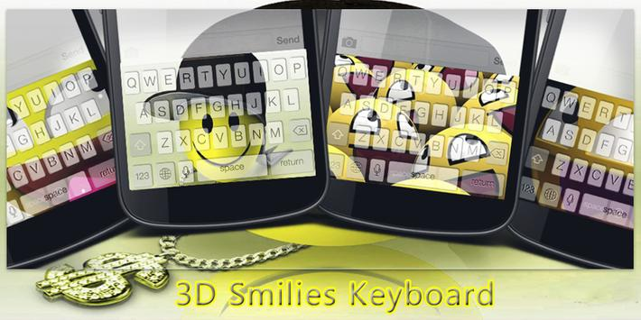 3D Smilies Keyboard poster