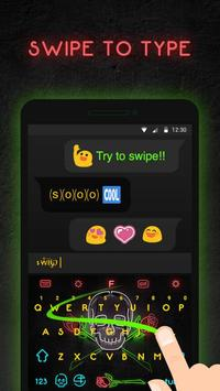 Neon Skull Keyboard Theme apk screenshot