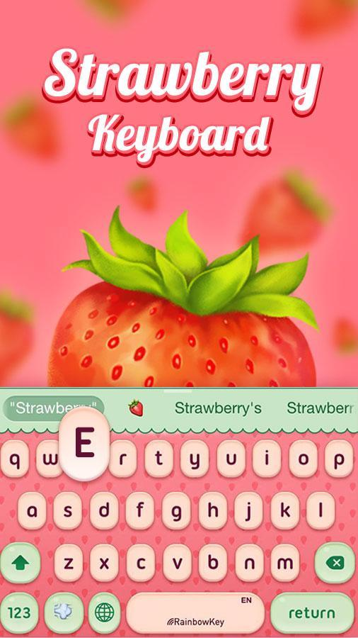 Fruit Keyboard Theme Strawberry Emoji Gif For Android Apk Download The 'strawberry' emoji is a special symbol that can be used on smartphones, tablets, and computers. fruit keyboard theme strawberry emoji