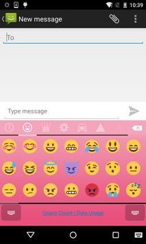 Emoji Keyboard - Macaron Pink screenshot 1