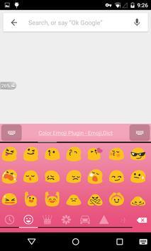 Emoji Keyboard - Macaron Pink screenshot 2