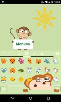 Emoji Keyboard-Monkey screenshot 1