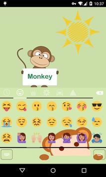 Emoji Keyboard-Monkey screenshot 2