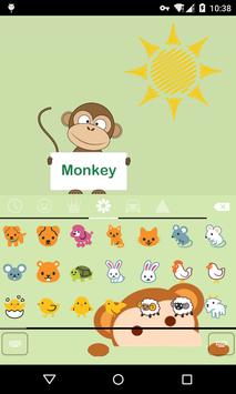Emoji Keyboard-Monkey apk screenshot