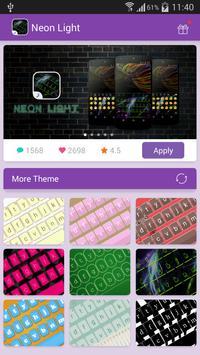 Emoji Keyboard-Neon Light poster