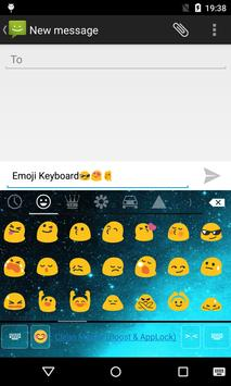 Emoji Keyboard-Night Sky Cyan screenshot 2