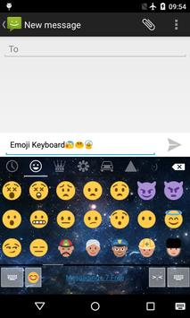 Emoji Keyboard-Night Sky L apk screenshot