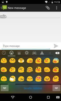 Emoji Keyboard - Black Flat poster