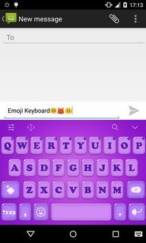Emoji Keyboard-Candy Purple screenshot 1
