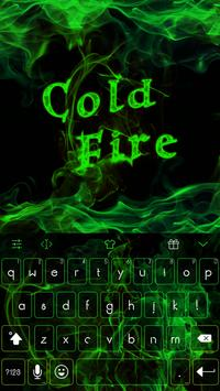 Emoji Keyboard-Cold Fire poster