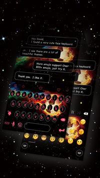 Emoji Keyboard-Fiery Football apk screenshot