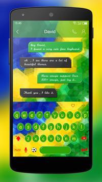 Emoji Keyboard-Football Field apk screenshot