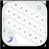 Emoji Keyboard-Gracy White icon