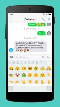 Emoji Keyboard-Gracy White screenshot 1