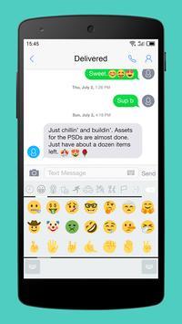 Emoji Keyboard-Gracy White screenshot 2