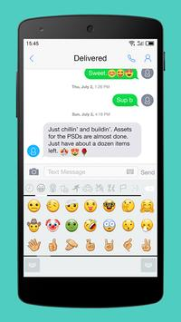 Emoji Keyboard-Gracy White apk screenshot