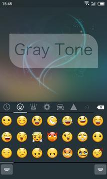 Emoji Keyboard-Gray Tone apk screenshot