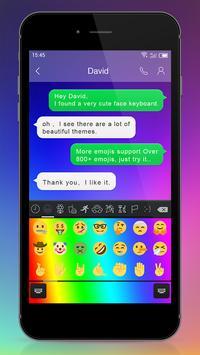 Emoji Keyboard - Iridescence apk screenshot