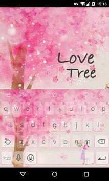 Emoji Keyboard-Love Tree poster