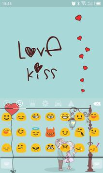 Emoji Keyboard-Love Kiss apk screenshot