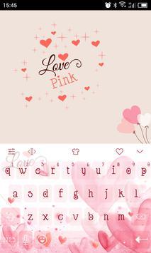 Emoji Keyboard-Love Pink poster