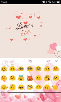 Emoji Keyboard-Love Pink apk screenshot