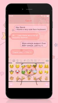 Emoji Keyboard - Pink Peppa screenshot 3