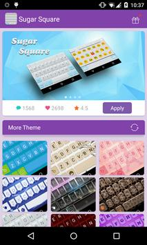 Emoji Keyboard-Sugar Square poster