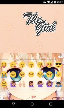 Emoji Keyboard-The Girl screenshot 1