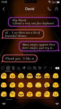 Emoji Keyboard-The Music apk screenshot