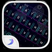Emoji Keyboard-Christmas neon icon