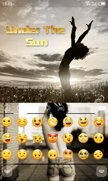 Emoji Keyboard-Under The Sun apk screenshot