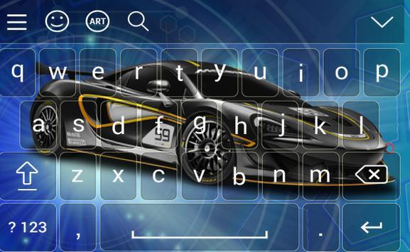 New Racing Car Keyboard Theme screenshot 1