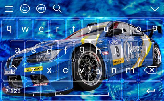 New Racing Car Keyboard Theme screenshot 2