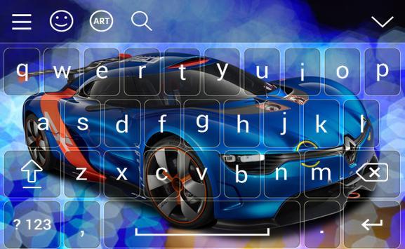 New Racing Car Keyboard Theme screenshot 3