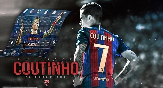 keyboard coutinho barcelona poster