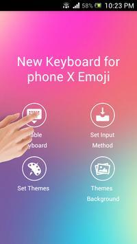 New Keyboard for iphone X Emoji screenshot 1