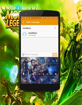 Keyboard Hero Mobile Legend Theme apk screenshot