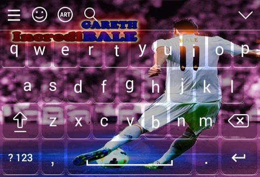 Keyboard For Gareth Bale screenshot 1