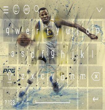 Keyboard - Kevin Durant NBA poster