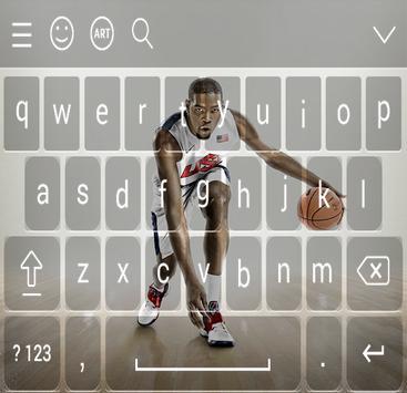 Keyboard - Kevin Durant NBA screenshot 1