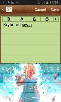 Super Sayan DBellZ Guku Keyboard apk screenshot