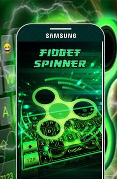 Free Neon Fidget Spinner Keyboard Theme apk screenshot